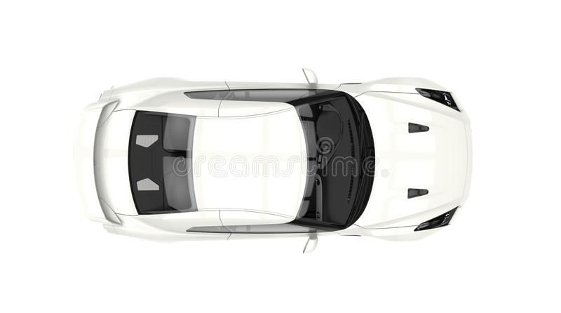 Sportwagen - Hoogste Mening royalty-vrije illustratie