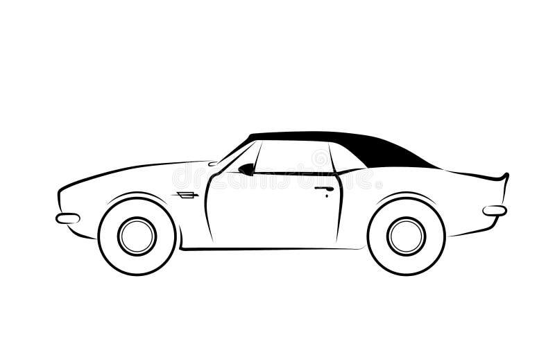 Sportwagen lokalisiertes Entwurfsikonenbild lizenzfreie abbildung