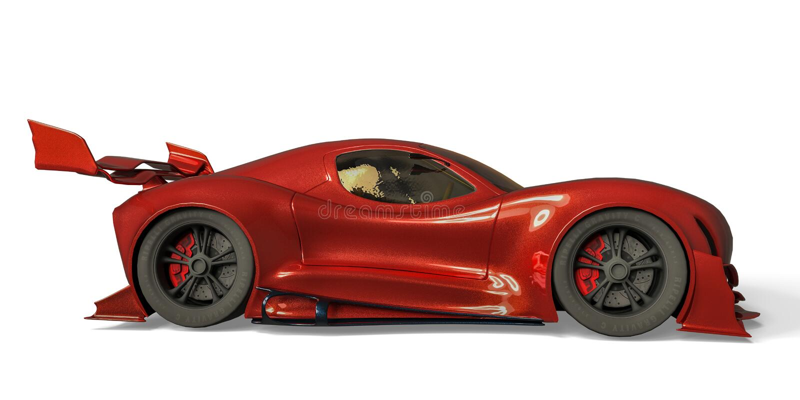 Sportwagen whith geen merk op een witte achtergrond vector illustratie