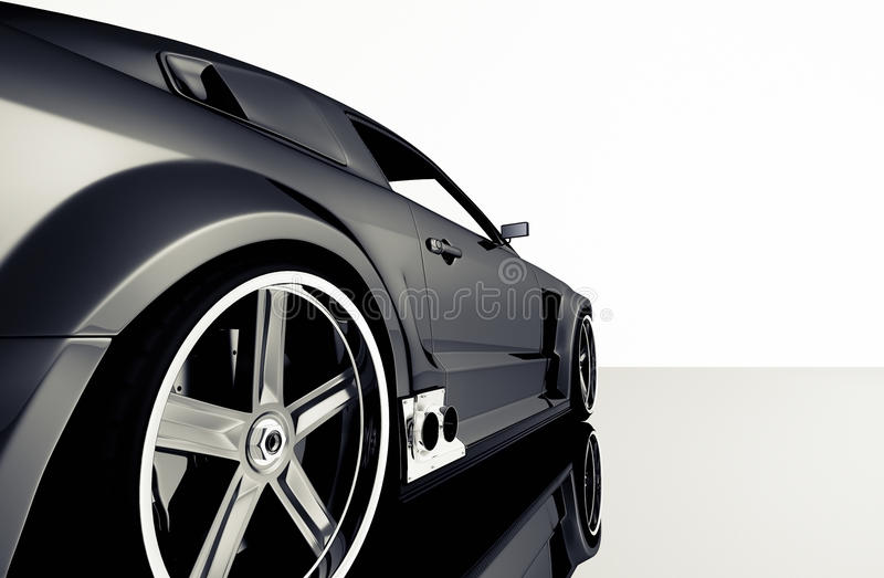 Sportwagendetail stock abbildung