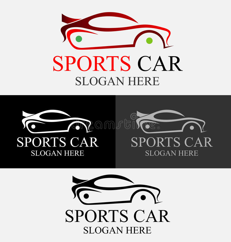 Sportwagenembleem vector illustratie