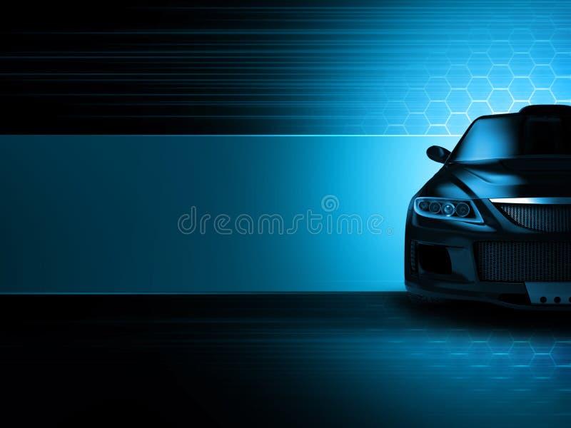 Sportwagenhintergrund vektor abbildung