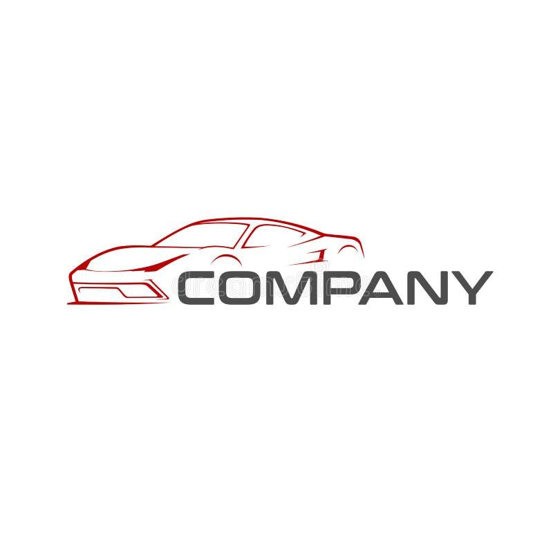 Sportwagenlogoschablone lizenzfreies stockbild