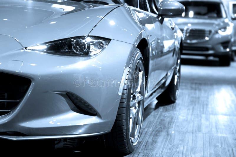 Sportwagens in vertoning royalty-vrije stock foto