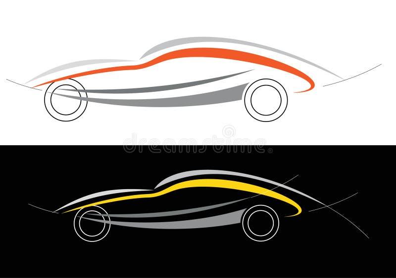 Sportwagenzeichen vektor abbildung
