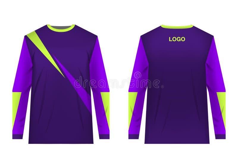 Sportwear do projeto do jérsei ilustração royalty free