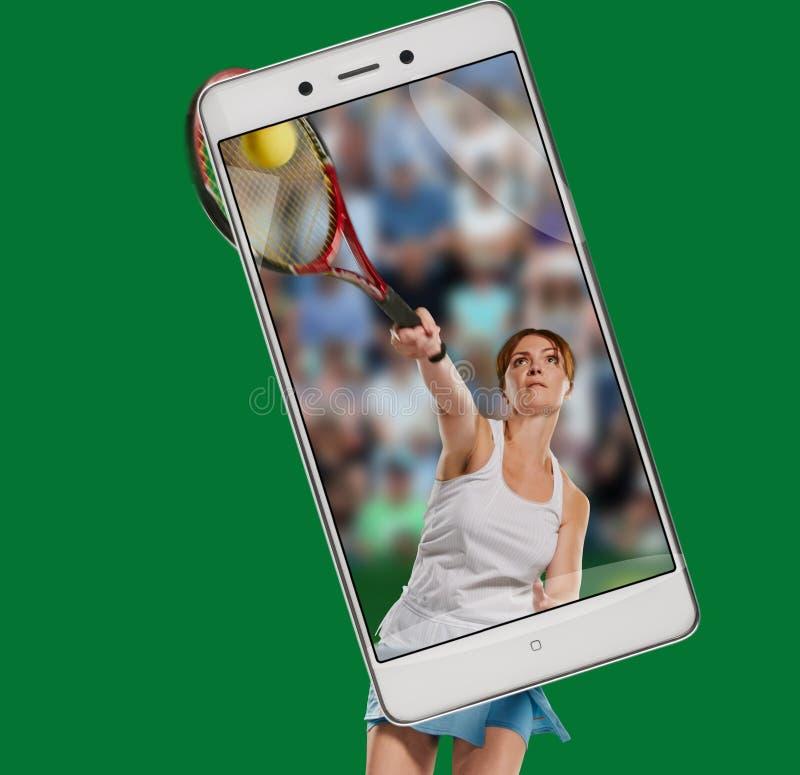 Sportwoman tennisspelare royaltyfri bild
