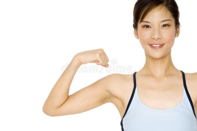 Sporty девушка стоковое фото