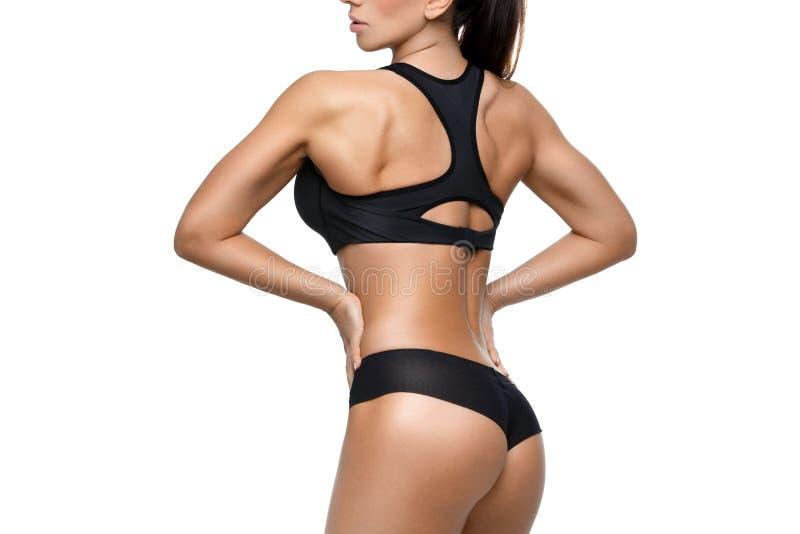 Sporty девушка с мышцами стоковые изображения rf