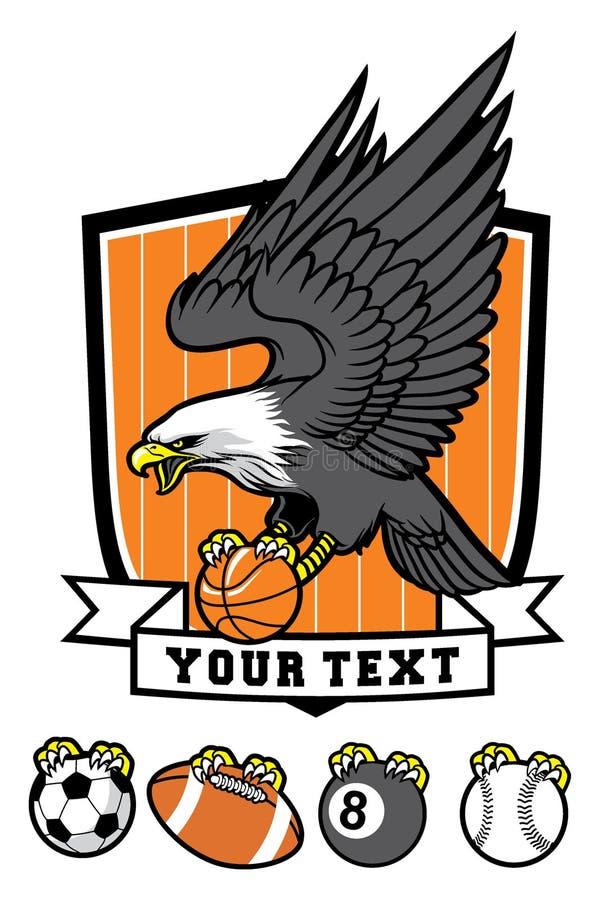 Sporty талисман орла  иллюстрация штока