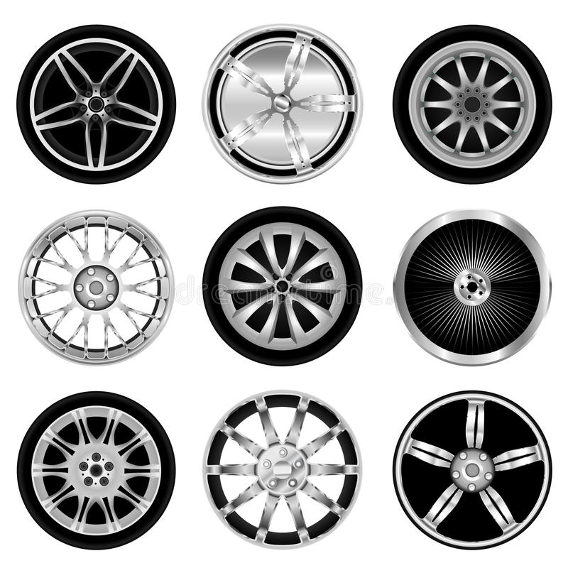 Download Sporty aluminum wheel stock vector. Image of drawing - 18237819