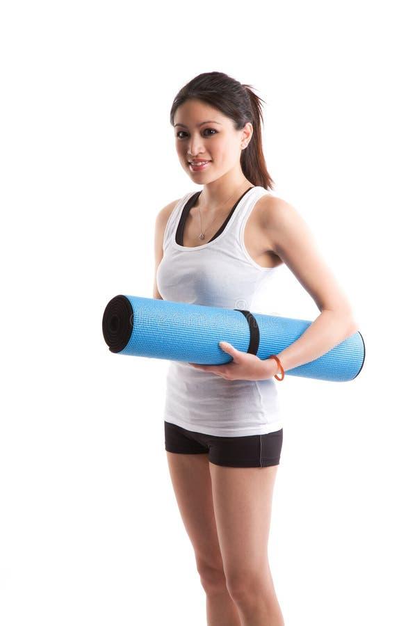 Sporty asian woman stock photos