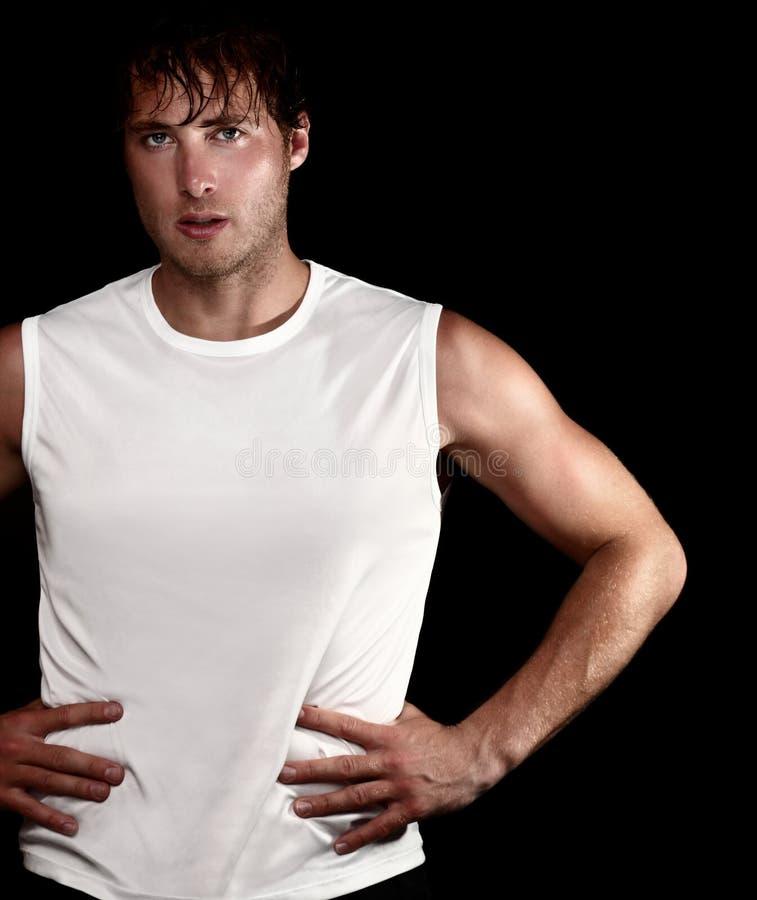 Sporty athlete man royalty free stock photo