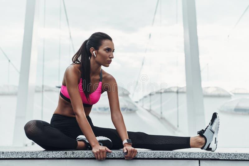 Sporty beauty. royalty free stock image