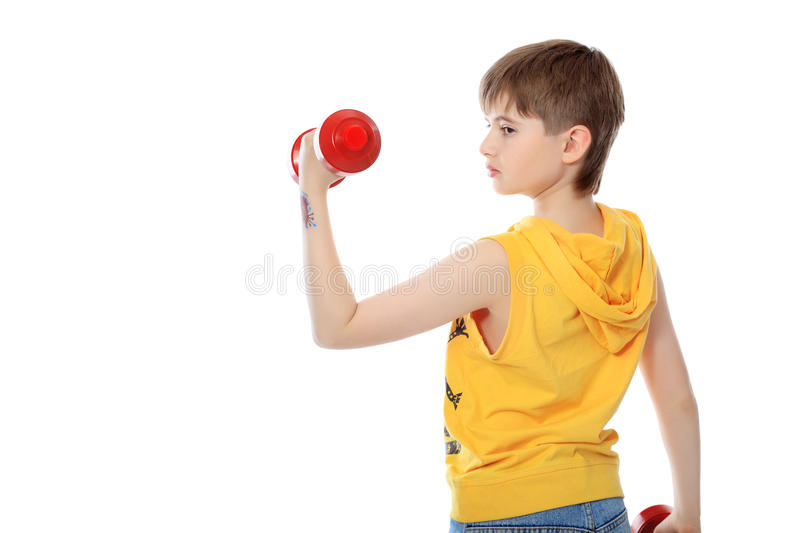 Sporty boy royalty free stock image