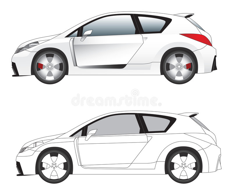 Sporty car illustration vector stock photography