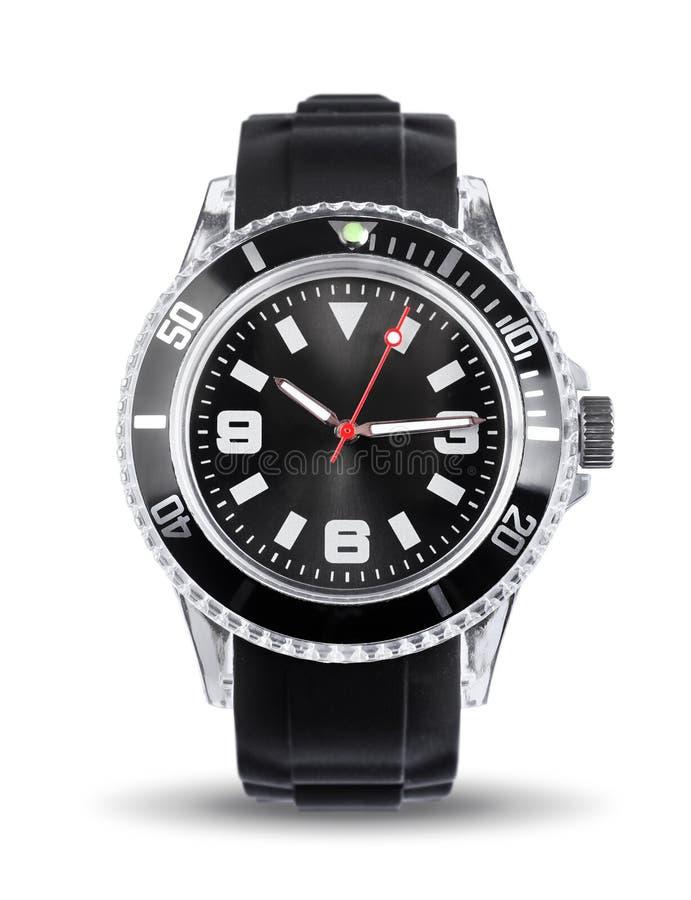 Sporty chronografu zegarek odizolowywający obraz stock