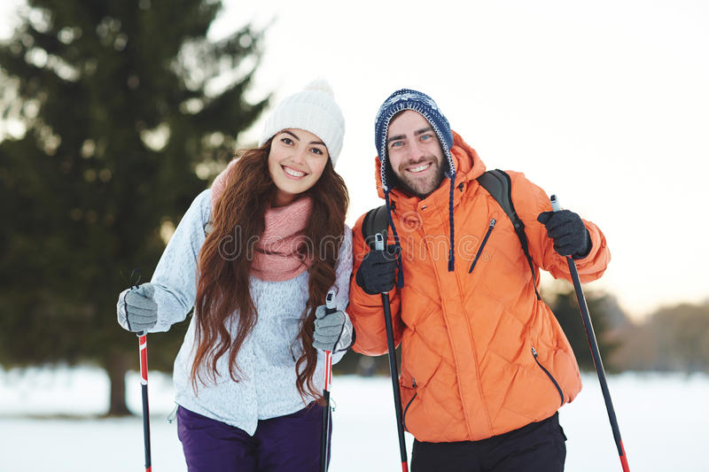 Sporty couple stock photography