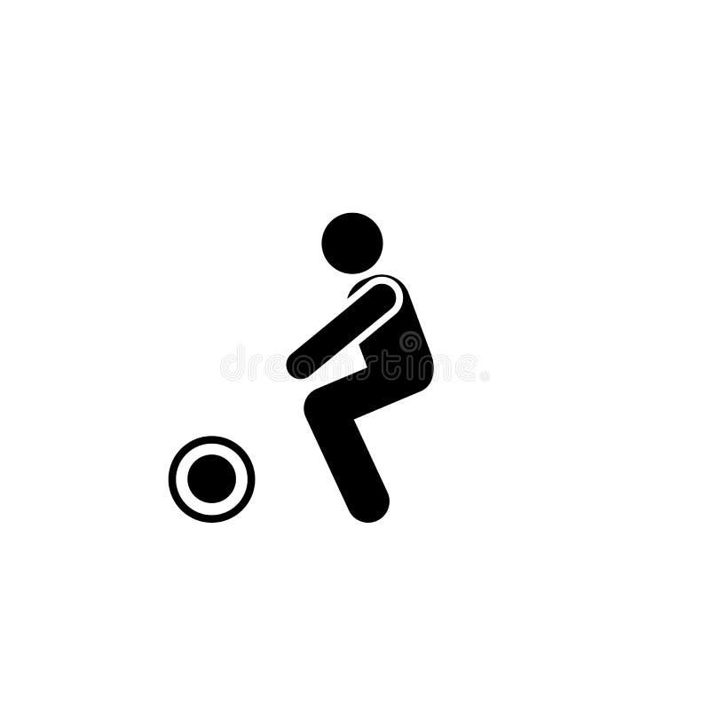 Sporty, dumbbell, zdrowie, gym, mężczyzna ikona Element gym piktogram Premii ilo?ci graficznego projekta ikona podpisz symboli ilustracja wektor