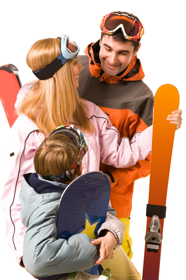Sporty Family Royalty Free Stock Photography