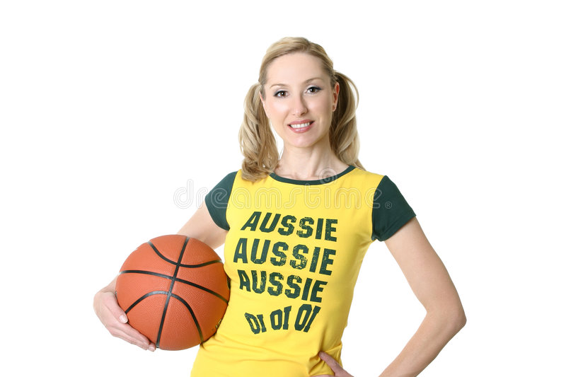 Sporty female player royalty free stock photos
