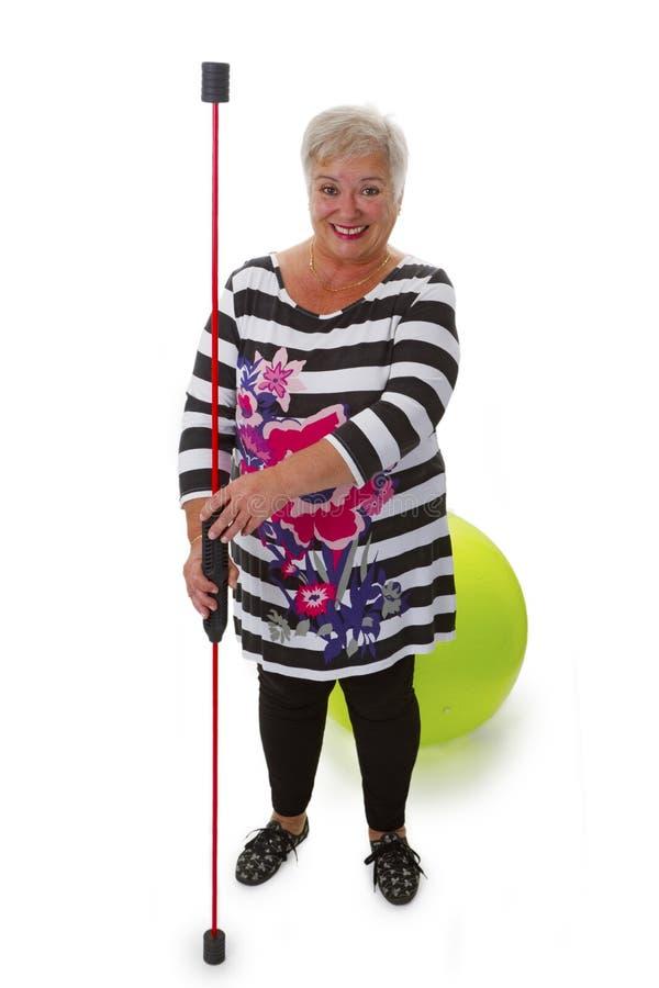 Sporty female senior stock image