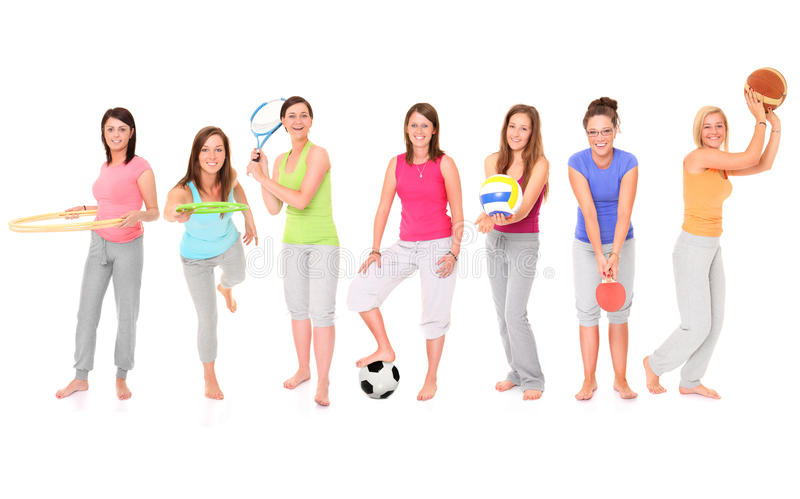 Sporty Girls Stock Photography