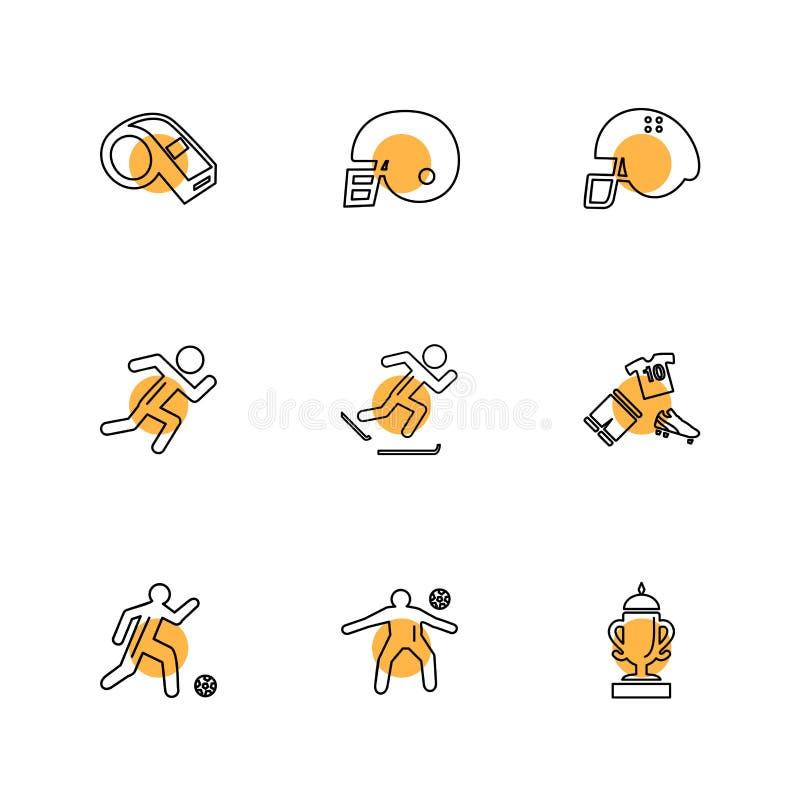 sporty, gry, atheletes, piłki, sprawność fizyczna, eps ikony ustawiają vec ilustracja wektor