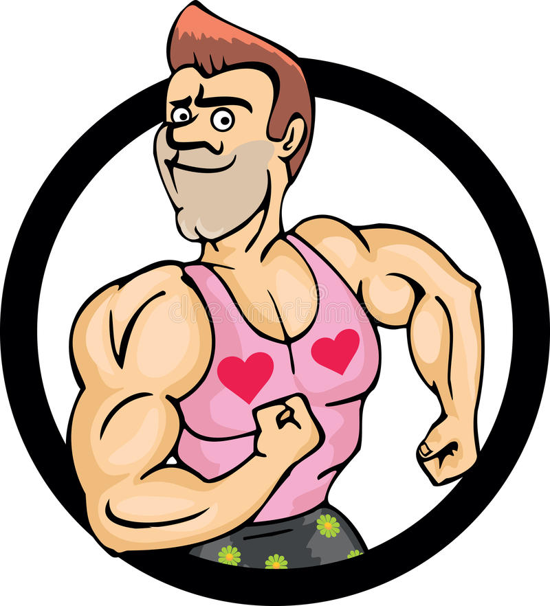 Download Sporty Guy stock vector. Image of muscle, caricature - 34470324