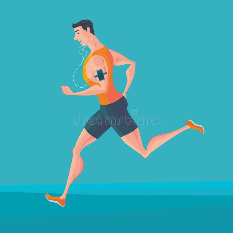 Sporty jogger молодого человека бесплатная иллюстрация