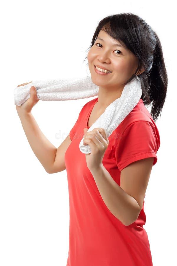 Sporty kobieta na białym tle fotografia stock