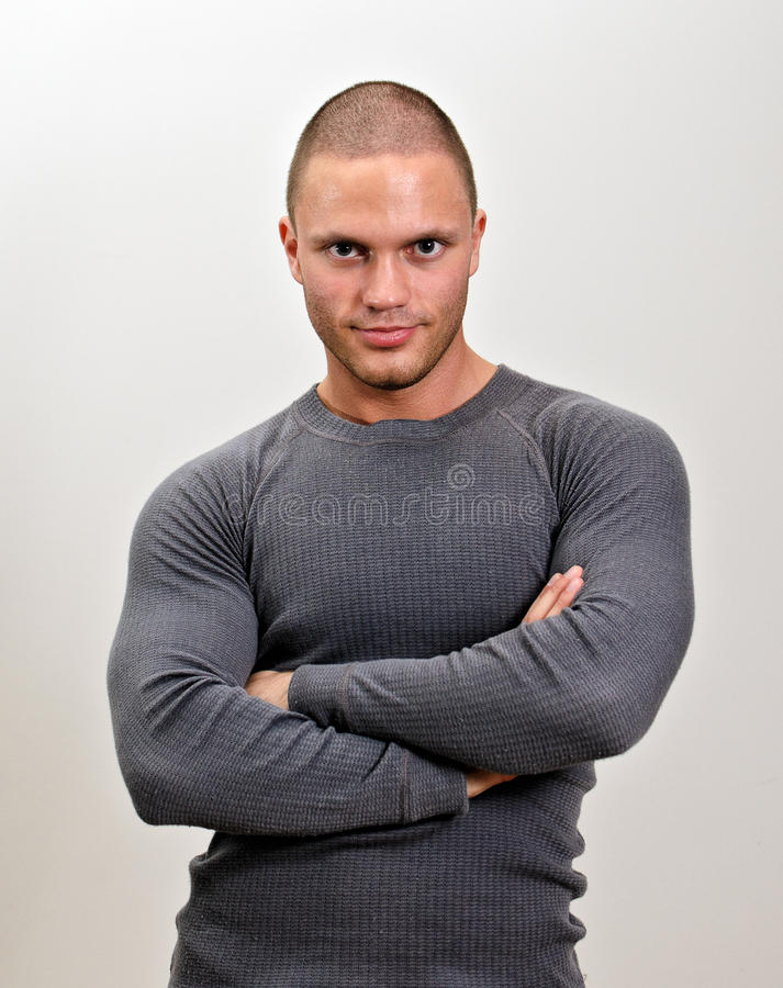 Download Sporty Male With Arms Folded. Stock Photo - Image: 25488956