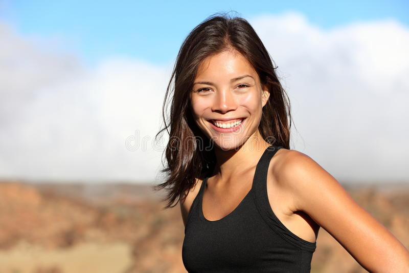 Sporty outdoor workout woman royalty free stock image