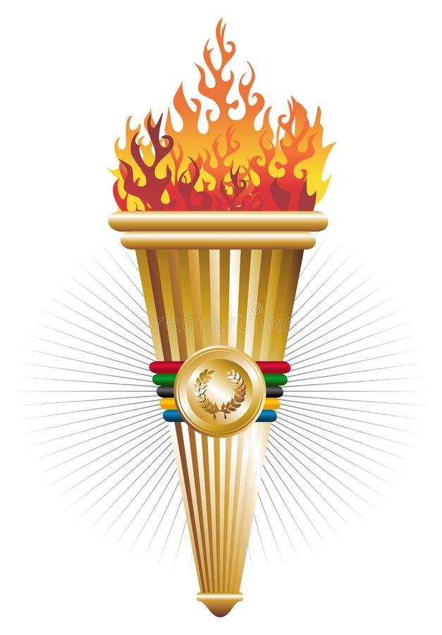sporty podkładają ogień triumf royalty ilustracja