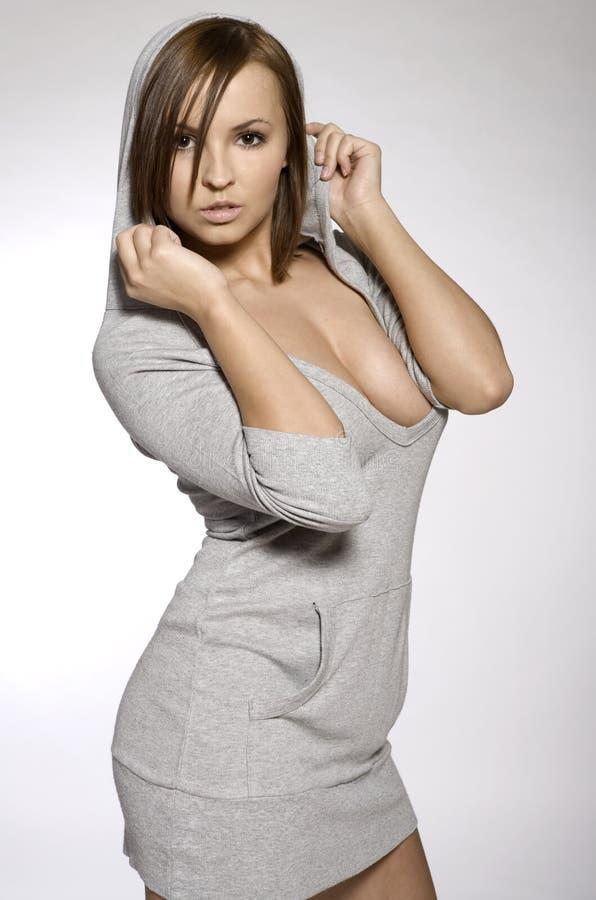 Sporty seksowna brunetka obraz royalty free