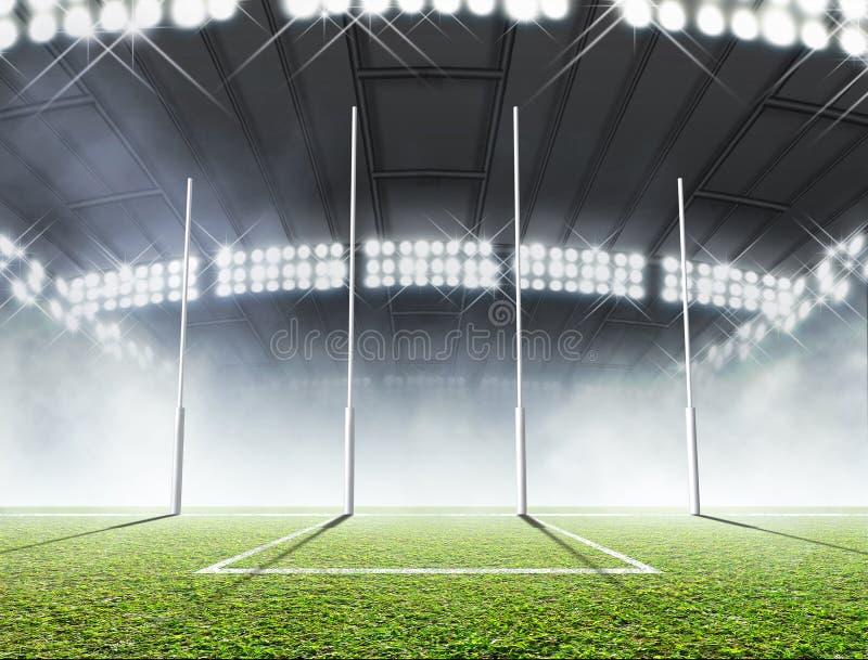 Sporty stadium I cel poczta ilustracja wektor