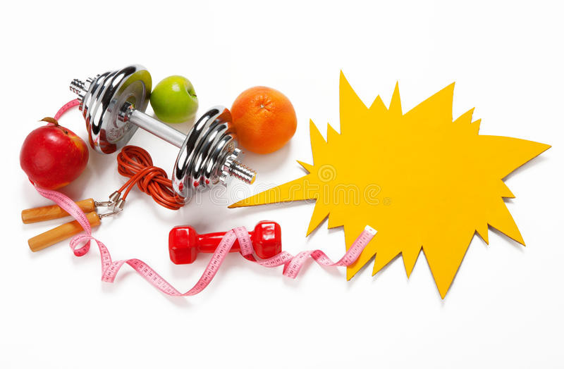 Sporty still life royalty free stock images