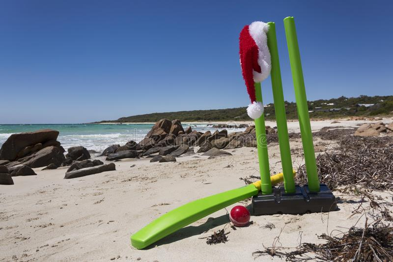A Sporty Summer Christmas stock photo