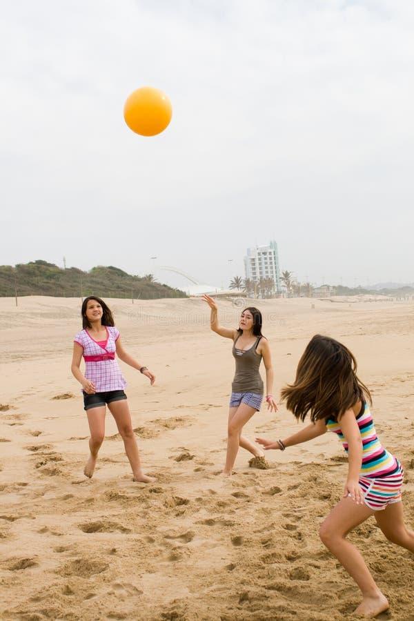 Sporty teen girls stock image