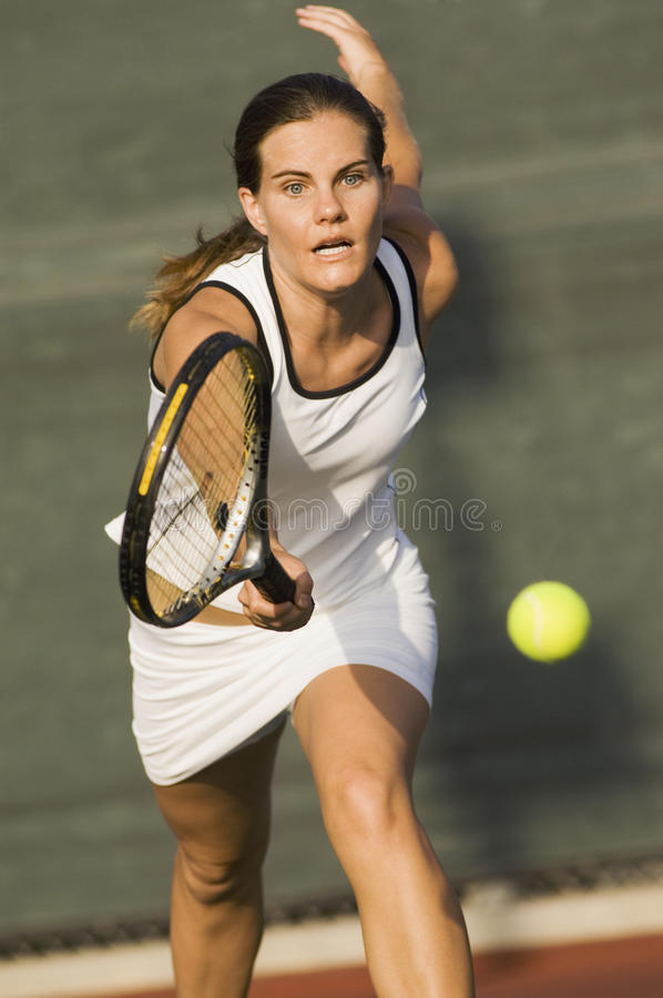 Sporty Tennis Player royalty free stock photo
