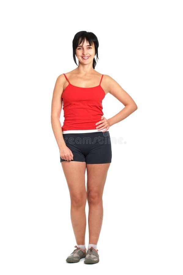 Sporty woman stock photos