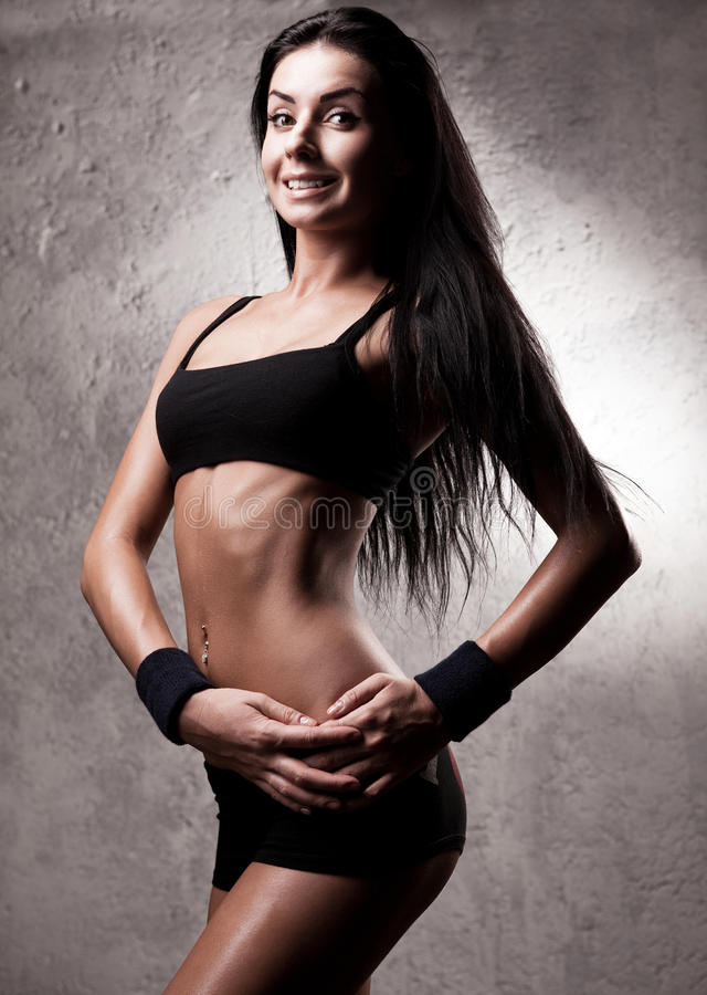 Download Sporty woman stock image. Image of activity, modern, belly - 25460289