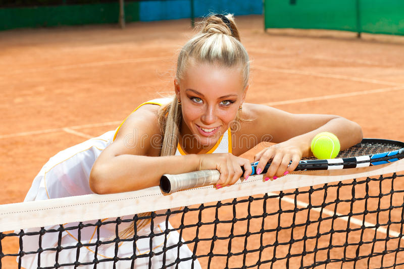 Download Sporty woman stock image. Image of sport, court, tennis - 28188403