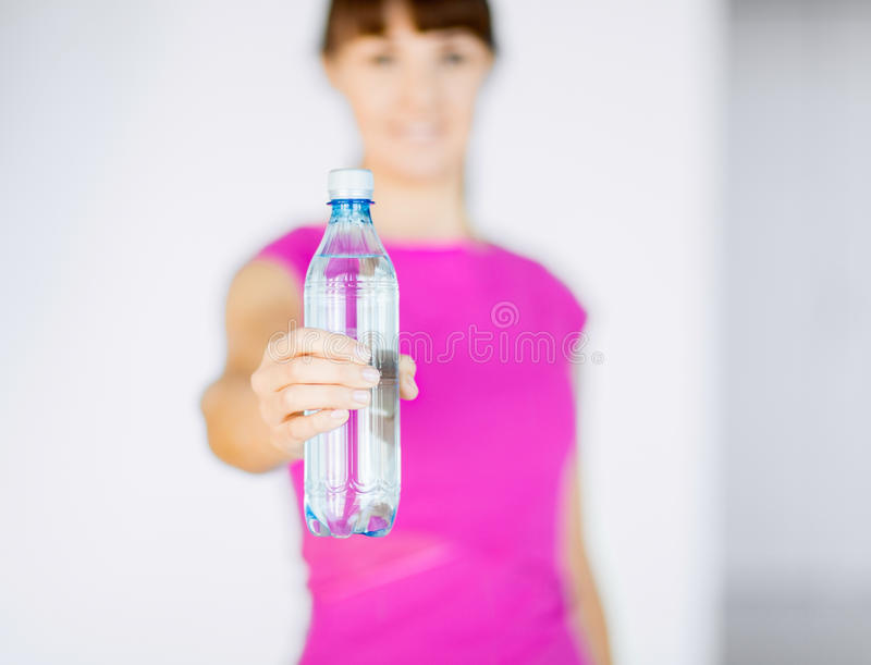 Download Sporty Woman With Bottle Of Water Stock Photo - Image: 33188188