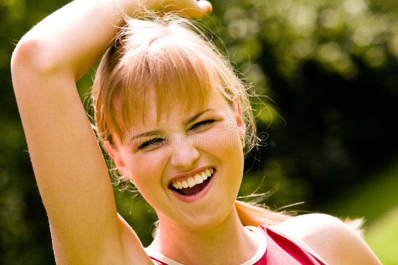 Download Sporty Woman With Happy Smile Stock Image - Image: 12650267