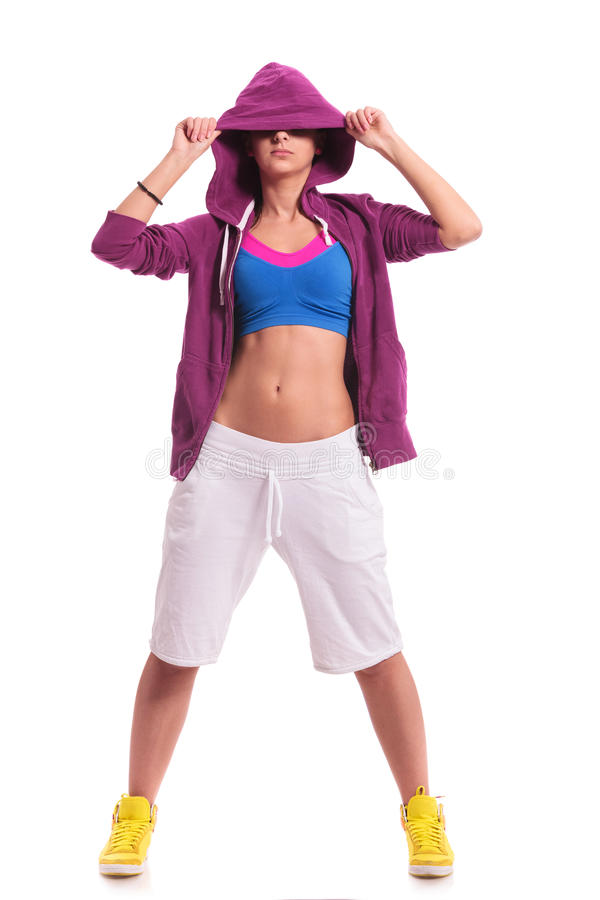 Download Sporty Woman Hiding Her Eyes Stock Image - Image: 27572941