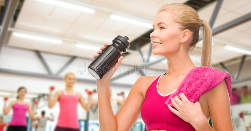 Download Sporty Woman With Special Sportsman Bottle Stock Photo - Image: 40264704