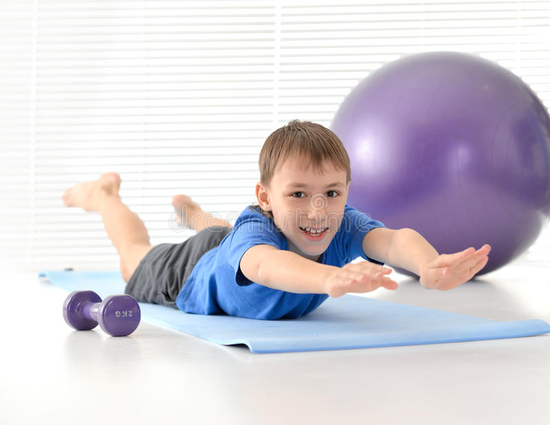 Sporty young boy stock images