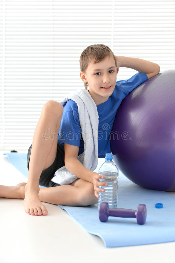Sporty young boy royalty free stock photo