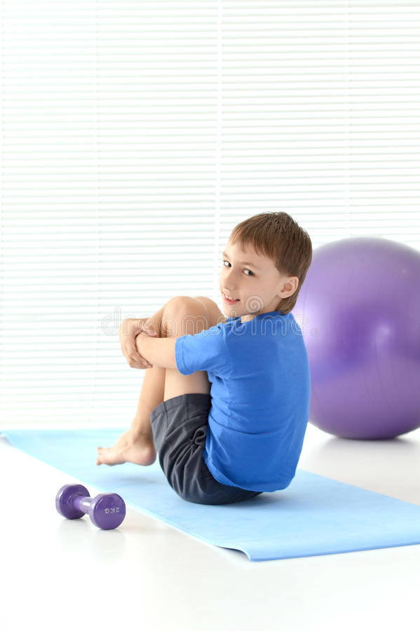 Sporty young guy royalty free stock images